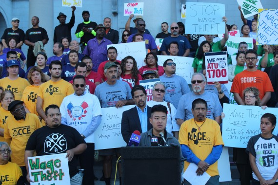 Wage Theft Rally