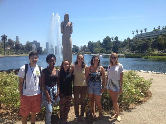 Interns at Echo Park Lake