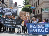 Raise the Wage Downtown March